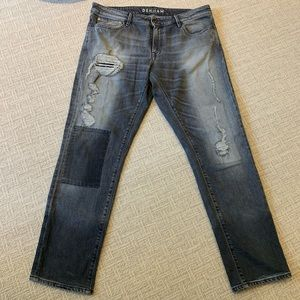 Denham Distressed Grey Jeans